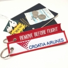 Crotia Airlines airline Fight attendant Cabin cockpit crew luggage bag tag keychain
