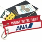 ANA Japan airline Fight attendant Cabin cockpit crew luggage bag tag keychain