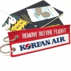 Korean Air airline Fight attendant Cabin cockpit crew luggage bag tag keychain