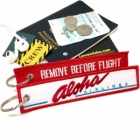 Aloha airlines Fight attendant Cabin cockpit crew luggage bag tag keychain