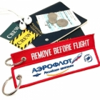 Aeroflot REMOVE BEFORE FLIGHT attendant pilot luggage bag tag keychain