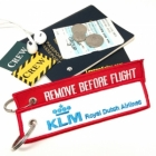KLM Royal Dutch Airline REMOVE BEFORE FLIGHT attendant pilot luggage bag tag keychain