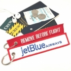 jetBlue Airways REMOVE BEFORE FLIGHT attendant pilot luggage bag tag keychain