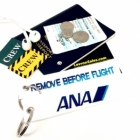 ANA 全日空 All Nippon Airways  REMOVE BEFORE FLIGHT attendant pilot luggage bag tag keychain