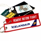 Icelandair REMOVE BEFORE FLIGHT attendant pilot luggage bag tag keychain