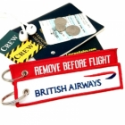 British Airways REMOVE BEFORE FLIGHT attendant pilot luggage bag tag keychain