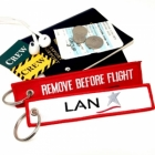 LAN LATAM Chile REMOVE BEFORE FLIGHT attendant pilot luggage bag tag keychain