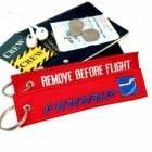 Finnair REMOVE BEFORE FLIGHT attendant pilot luggage bag tag keychain
