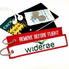 Wideroe Airline Remove Before Fight Attendant luggage bag tag keychain