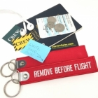 Deluxe Remove Before Flight (write your name) luggage bag tag keychain