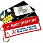 Turkish Airline Turk Hava Yollari REMOVE BEFORE FLIGHT attendant pilot luggage bag tag keychain