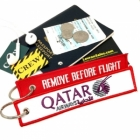 Qatar Airline REMOVE BEFORE FLIGHT attendant pilot luggage bag tag keychain