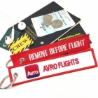 Avro Flights REMOVE BEFORE FLIGHT attendant pilot luggage bag tag keychain