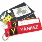 Y Yankee Tag w/ name card on back Flight Attendant pilot cabin crew luggage bag tag keychain
