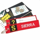 S Sierra Tag w/ name card on back Flight Attendant pilot cabin crew luggage bag tag keychain