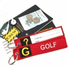 G Golf Tag w/ name card on back Flight Attendant pilot cabin crew luggage bag tag keychain