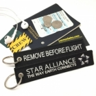 Star Alliance Remove Before Flight attendant pilot luggage bag tag keychain