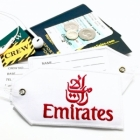 Emirates airline Real Luggage Style tag with back slot for ID Flight Attendant Cabin Crew Cockpit Pilot Crew Authentic Equipment