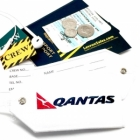 Qantas airline Real Luggage Style tag with back slot for ID Flight Attendant Cabin Crew Cockpit Pilot Crew Authentic Equipment