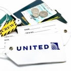 United airlines Real Luggage Style tag with back slot for ID Flight Attendant Cabin Crew Cockpit Pilot Crew Authentic Equipment