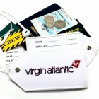 Virgin Atlantic airline Real Luggage Style tag with back slot for ID Flight Attendant Cabin Crew Cockpit Pilot Crew Authentic Equipment