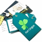 Aer Lingus airline Real Luggage Style tag with back slot for ID Flight Attendant Cabin Crew Cockpit Pilot Crew Authentic Equipment