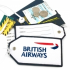 British Airways airline Real Luggage Style tag with back slot for ID Flight Attendant Cabin Crew Cockpit Pilot Crew Authentic Equipment