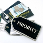 Priority Silver thread airline Real Luggage Style tag with back slot for ID Flight Attendant Cabin Crew Cockpit Pilot Crew Authentic Equipment