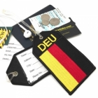 DEU Germany flag airline Real Luggage Style tag with back slot for ID Flight Attendant Cabin Crew Cockpit Pilot Crew Authentic Equipment