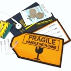 Fragile Orange airline Real Luggage Style tag with back slot for ID Flight Attendant Cabin Crew Cockpit Pilot Crew Authentic Equipment